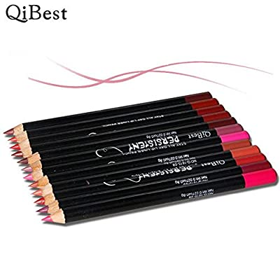 Lip Liner Pencil, Doinshop 12pcs/Set Long Lasting Lipliner Makeup Tools Waterproof