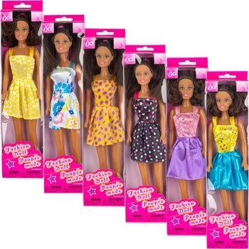 "African-American Fashion Dolls, 11½"" (Set of 2)"