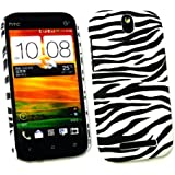 Emartbuy ® HTC One SV Zebra Schwarz / Weiß Clip On Protection Case / Cover / Skin