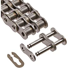 "Morse 40-2R 10FT Standard Roller Chain, ANSI 40-2, Riveted, 2 Strands, Steel, 1/2"" Pitch, 0.312"" Roller Diamter, 5/16"" Roller Width, 68000lbs Average Tensile Strength, 10ft Length"
