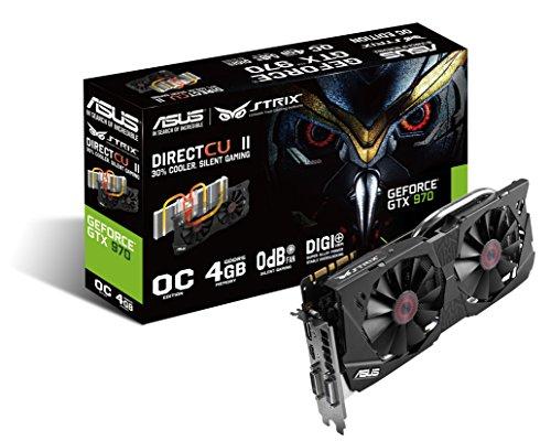 Asus STRIX Nvidia GeForce GTX 970 Scheda Video, OC, 4 GB GDDR5, 256 bit
