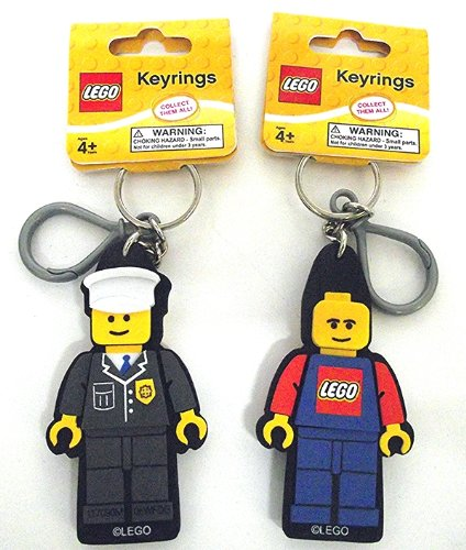 Lego City Worker Key Ring Chain Set of 2