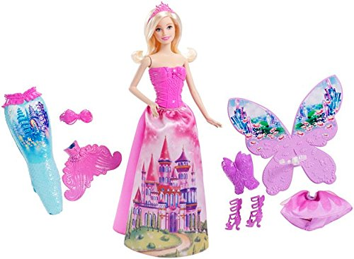 Mattel Barbie CFF48 - 3-in-1 Fantasie Barbie