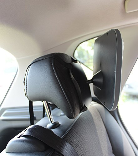 baby car mirror attach to back seat headrest to safely view infant in rear facing seats home. Black Bedroom Furniture Sets. Home Design Ideas