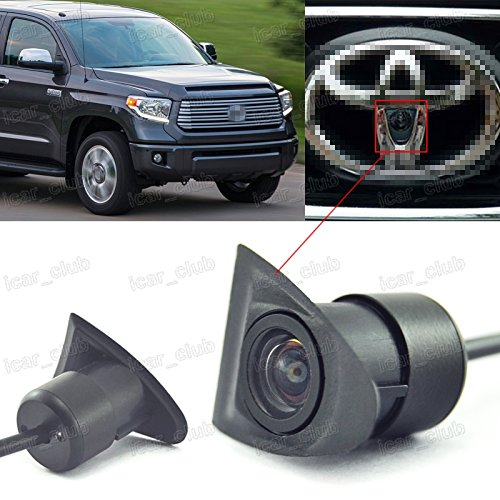 CCD Front View Camera Logo Embedded Wide Degree for Toyota Tundra 2007-2016 (2014 Toyota Accessories compare prices)