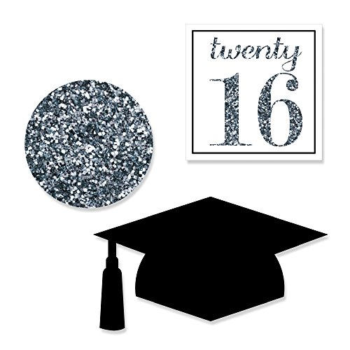 Tassel Worth The Hassle - Silver - DIY Shaped Graduation Party Cut-Outs - 24 Count
