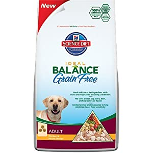 Hill's Science Diet Ideal Balance Adult Grain Free Chicken and Potato Dinner Dry Dog Food Bag, 3.5-Pound