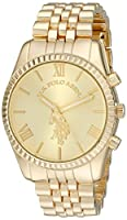 U.S. Polo Assn. Women's USC40058 Gold-Tone Watch