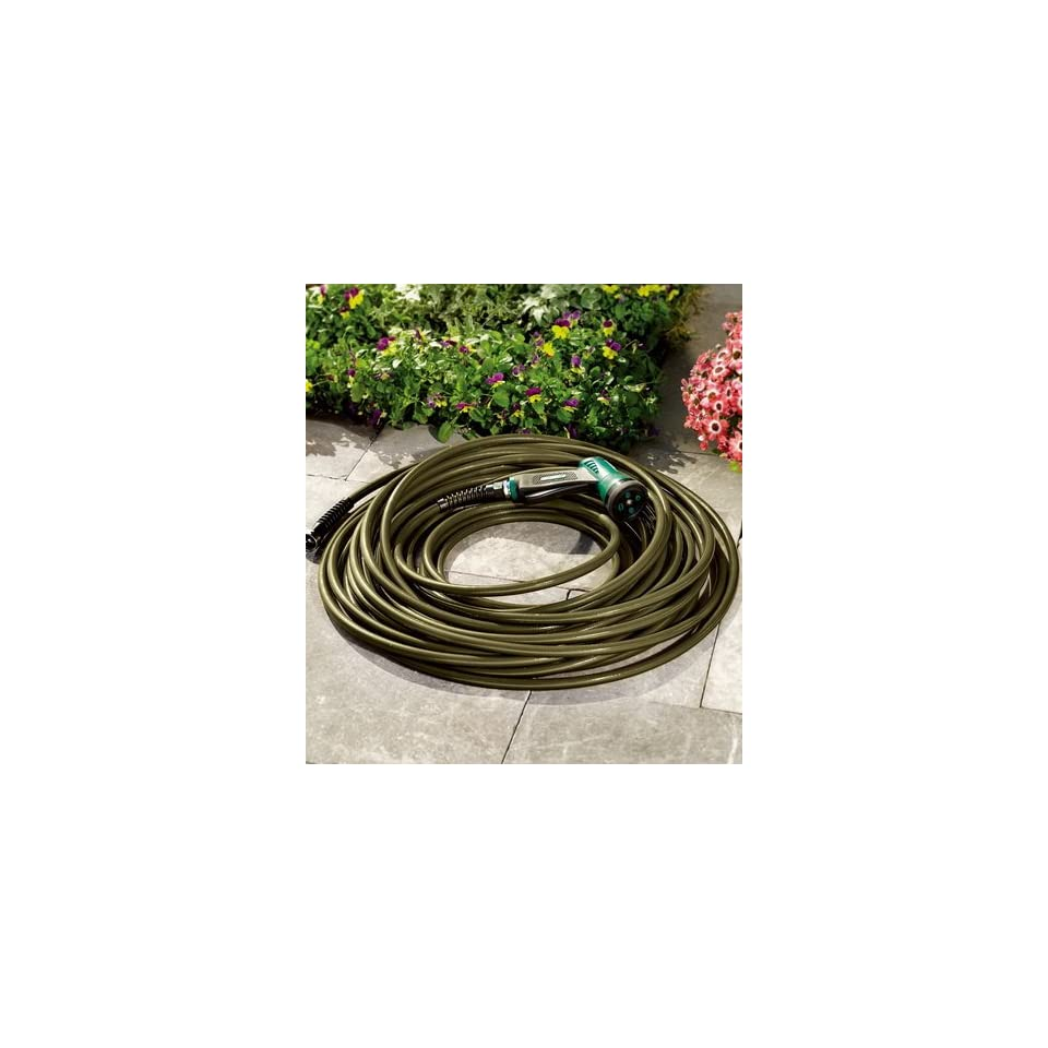 50 USA Made Ultra Light Kink Resistant Hose with Solid Brass Fittings in Olive