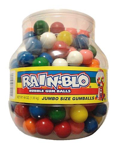 Rain Blo Bubble Jumbo Gum Balls (48oz Jar) (Giant Candy Jars compare prices)