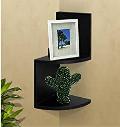 Shelving Solution Shelving Large Corner Wall Shelf (Black)
