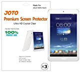 JOTO Premium Screen Protector Film HD Ultra Clear (Invisible) for ASUS MeMO Pad 8 Tablet (ME180A) with Lifetime Replacement Warranty (3 Pack)