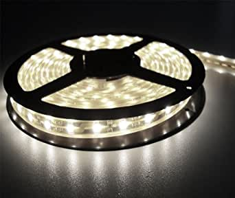 White Flexible Adhesive LED Light Strip Roll - 16.4 Ft. (5 Meters) - 300 Lights
