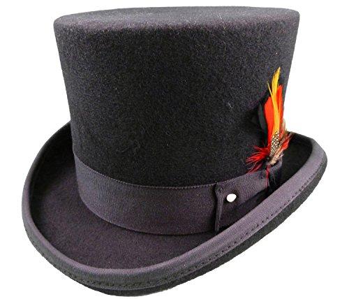 Black-Top-Hat-100-Wool-Felt-Size-Large-59cm