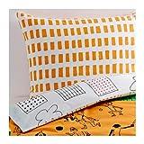 IKEA (イケア) ONSKEDROM 掛け布団カバー&枕カバー オレンジ グリーン ホワイト 150×200cm 50289598