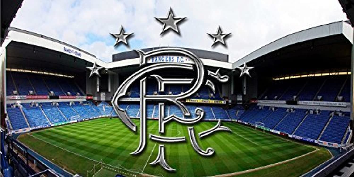 Sticker giant coupon - Glasgow Rangers Fc Giant Abstract Wall Mural Decal Poster