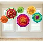 Amscan Fiesta Paper Fan Decorations (...
