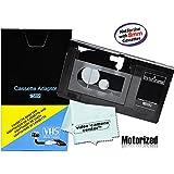 Motorized VHS-C Cassette Adapter For JVC C-P7U CP6BKU C-P6U,Panasonic PV-P1,RCA VCA115