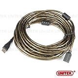 【UNITEK】USB2.0対応 USB延長ケーブル 10m