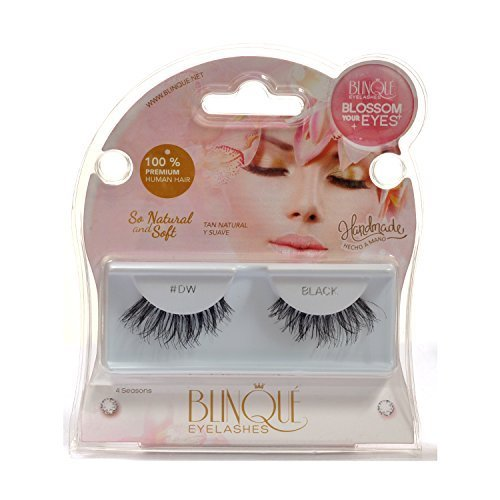 Blinque 100% Human Hair False Eyelashes 6 Pairs,Color# 605 by Blinque