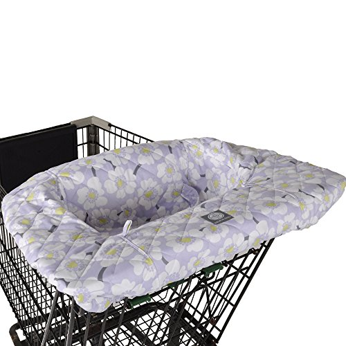 Cheap Lavender Poppy Shopping Cart and Highchair Cover - 100% Cotton Floral Design