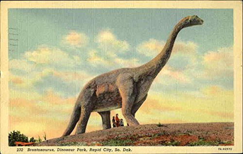 Brontosaurus at Dinosaur Park in Rapid City, 1942