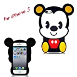 Disney 3D Mickey Mouse Soft Silicone Case Cover For iphone 5 5G Xmas Gift