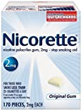 Nicorette Gum, 2 mg, 170 pieces (Original Flavor)