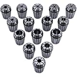 ZJchao 15pcs Er25 Spring Collet Set Gripping Range From 2mm to 16mm for CNC Engraving Machine or Milling Lathe Tool