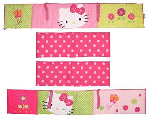 New Baby Nursery Crib Accessories 4 Piece Lambs & Ivy Hello Kitty Garden Bumper