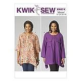 KWIK-SEW PATTERNS K4074 Women's Tops, All Sizes