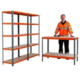 RAC Garage Shelving & Workbench Kit - Each Bay 1780h x 900w x 300d mm