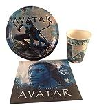 Avatar Party Supplies Bundle: 3 Items - Plates, Napkins, Cups