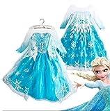 アナと雪の女王 Frozen Elsa ディズニー ドレス マント付 ワンピース 雪の女王 グッズ Olaf オラフ  エルサ コスプレ 仮装 衣装 ハロウィン キッズ Global Trade Japan (100cm)