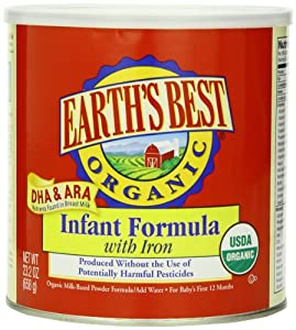 Earth's Best Organic Infant Formula with Iron, 23.2 Ounce Canisters (Pack of 4)