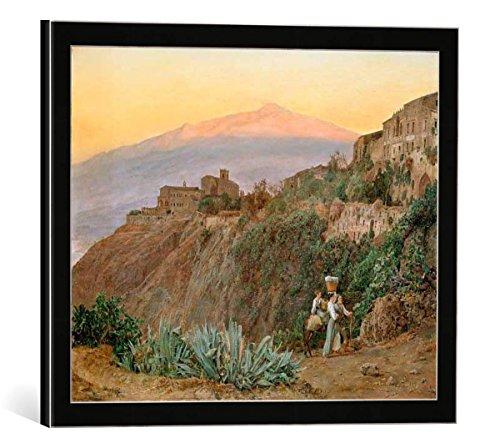 cuadro-con-marco-ferdinand-georg-waldmuller-taormina-mit-atna-bei-sonnenaufgang-impresion-artistica-