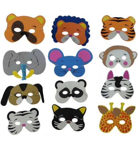Foam Animal Mask - Collection Of Cute Foam Animal Masks