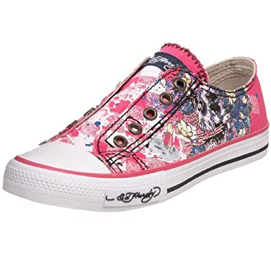 Ed Hardy Little Kid/Big Kid Lowrise 100 Fashion Sneaker,Fuschia-29FLR105K,3 M US Little Kid