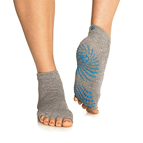 Sumdreams Grippy Toeless Yoga Pilates Barre Exercise Half Toe Grip Socks Average Size