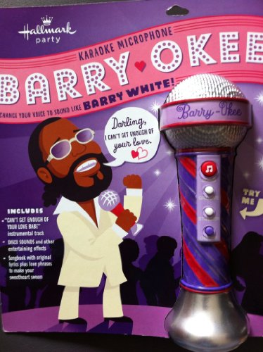 Barry Okee Hallmark Karaoke Microphone Change Your Voice To Sound Like Barry White
