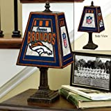 NFL Denver Broncos 14 Inch Art Glass Lamp at Amazon.com
