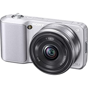 Sony Alpha NEX-3 Compact Interchangeable Lens Digital Camera w/16mm Lens (Silver)- 14.2 Mpix