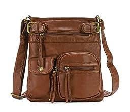 Scarleton Accent Top Belt Crossbody Bag H183304 - Brown