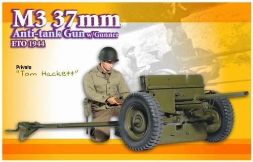 "Buy Low Price Dragon Models 1/6 M3 37mm Anti-Tank Gun with Gunner Eto 1944, ""Tom Hackett"" (Private) – 9th Anniversary – Neo 3 Body Figure (B002I5QG3U)"