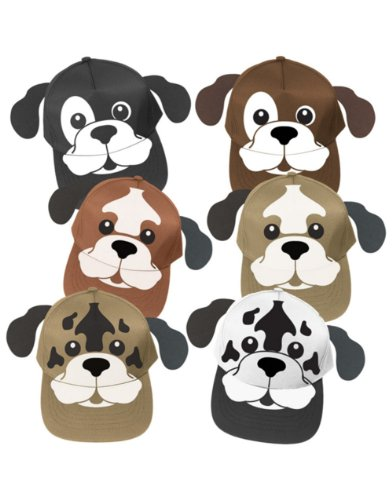 Adults Kids Adjustable Puppy Dog Baseball Cap Hat Costume Accessory