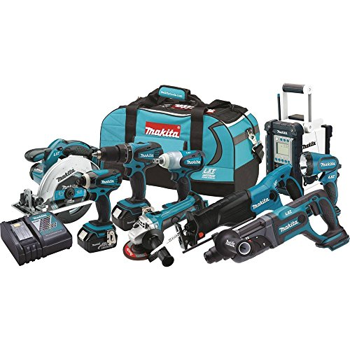 Makita-LXT902-18-Volt-LXT-Lithium-Ion-Cordless-9-Piece-Combo-Kit
