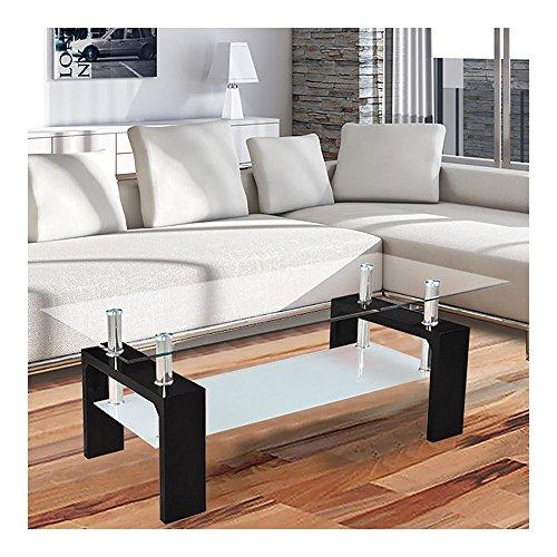Corium-Couchtisch-Wohnzimmertisch-110-x-60-x-45-cm-Glasplatte-schwarz-Tisch-Glastisch-Beistelltisch-Wohnzimmer-Hochglanz