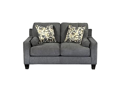 Mallbern Charcoal Loveseat