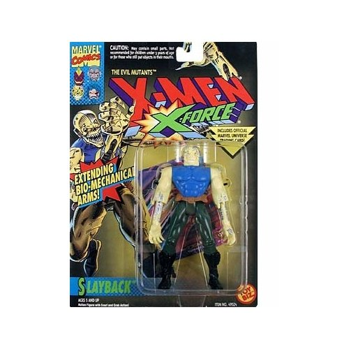 Slayback Action Figure - 1994 - X-Men X-Force - Evil Mutants - w/ Snarl & Grab Action - Toy Biz - Marvel - Trading Card - Limited Edition - Collectible