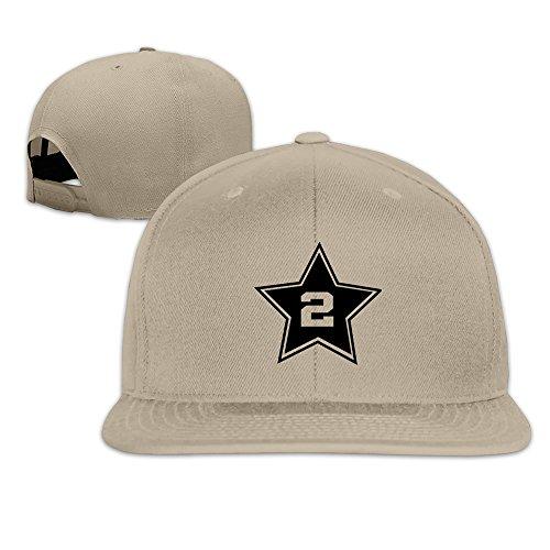 Basketball San Antonio Player #2 Solid Snapback Baseball Hat Cap One Size Nat...